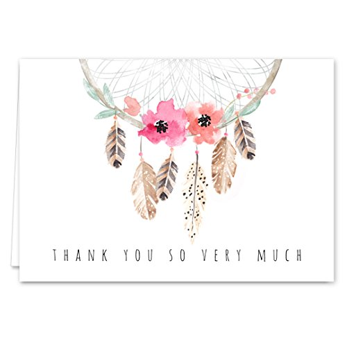Arts And Crafts Style Thank You Cards