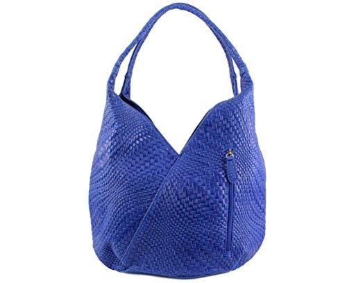 CHLOLY - Bolso de asas para mujer azul cobalto