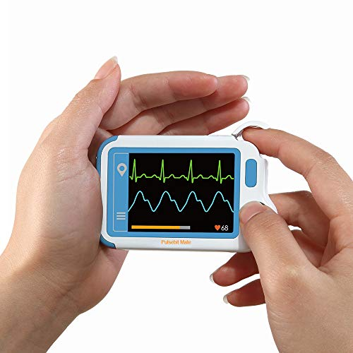 ECG/EKG Heart Health Tracker with PC Software, Home Use Heart Rate Monitor for Fitness, General Wellness Use