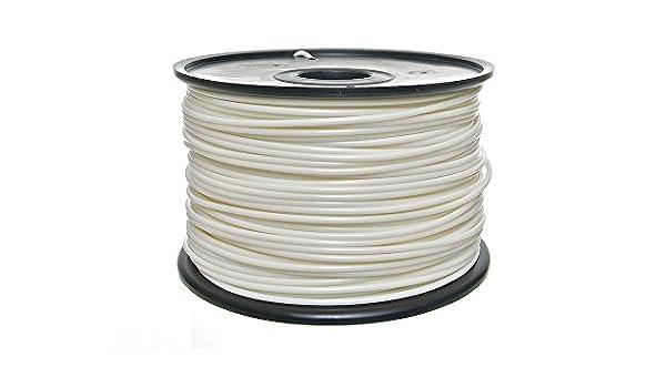 PLA Filamento 1,75 mm color blanco: Amazon.es: Jardín