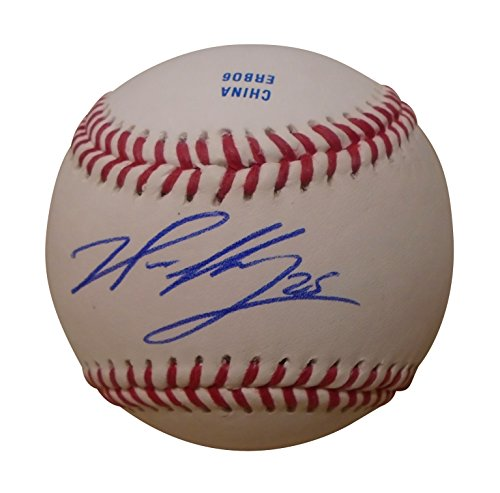 Los Angeles Angels Noe Ramirez Autographed Hand Signed Baseball with Proof Photo, Boston Red Sox, COA