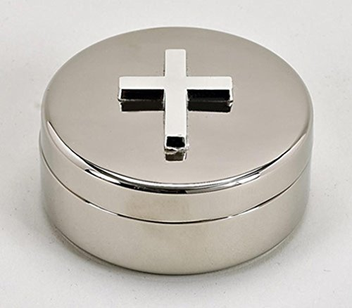 nish Nickel Cross Rosary Box (Silver Plated Trinket Boxes)