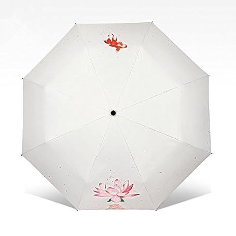 Paraguas Xiuxiutian sombrilla de plástico negro protector solar anti UV soleado lluvia doble uso creativo de