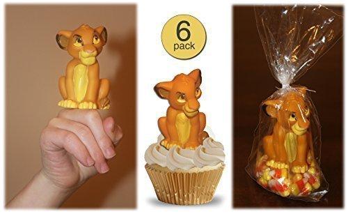 Set of 6 - Disney Lion King Figural Rubber Finger Puppet Toy