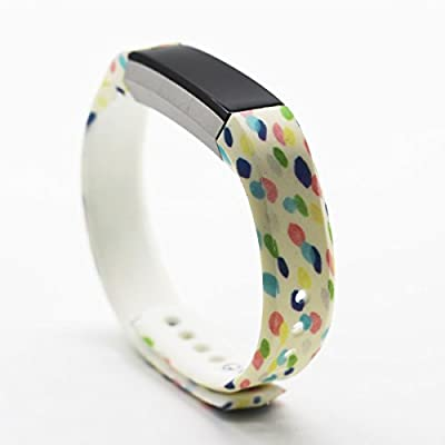 honecumi Watch Bands Compatible with Fitbit Alta/Alta HR Pattern Wristband Replacement Accessory Colorful Painting snap-Fastener Wrist Strap Smart Watch Bands for Fitbit Alta/Fitbit Alta HR