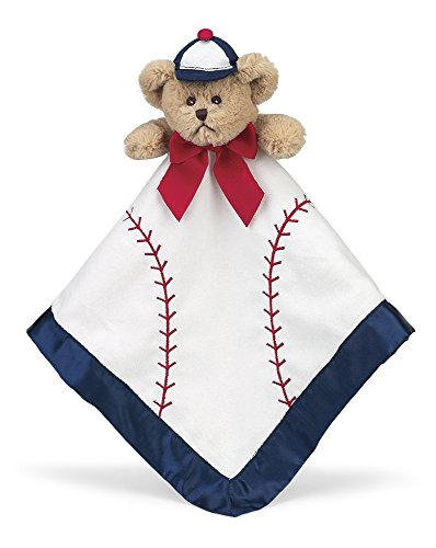 (Bearington Baby Lil' Slugger Snuggler, Baseball Plush Teddy Bear Stuffed Animal Security Blanket, Lovey 15