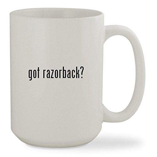got razorback? - 15oz White Sturdy Ceramic Coffee Cup Mug (Arkansas Razorbacks White Ceramic)