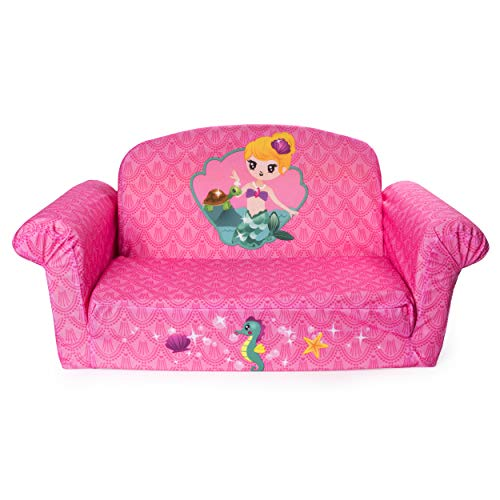 (Marshmallow Furniture - Children's 2 in 1 Mermaid Flip Open Foam Sofa)