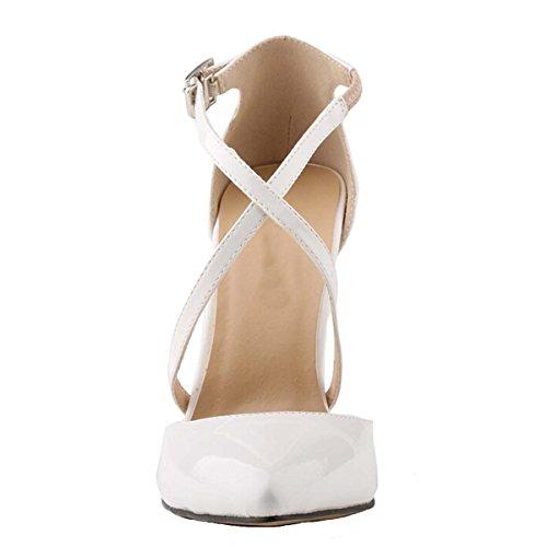 Win8Fong - Sandalias de vestir para mujer Beige - beige