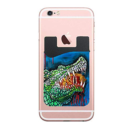 Cusomcardphone Crocodile Lollipop Cell Phone Card Wallet Card Wallet Universal Compatible, iPhone, iPad, Android etc 2 PCS