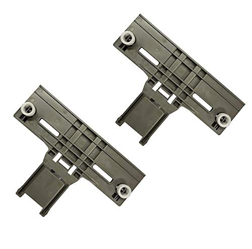 Ultra Durable W10350376 Dishwasher Top Rack Adjuster Replacement part by SANJOIN - Exact Fit For Whirlpool & Kenmore Dishwashers - PACK OF 2 ()