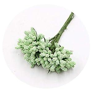 Zalin Foam Artificial Flowers Bouquet Wedding Home Decoration DIY Handmade Fake Flower,Green 89
