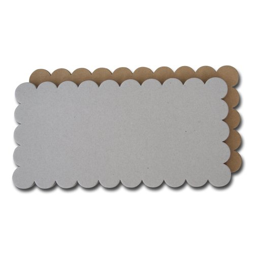 Maya Road Scallop Rectangle Basic Album In Chipboard and Kraft (Scallop Album Rectangle)