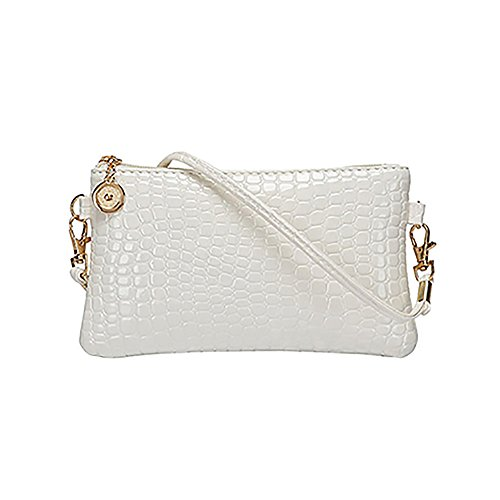 Satchel Shoulder White Messenger Fashion Womens Handbag Body Zipper Tote Bag Faux Purse Cross Leather FSP1PxZ