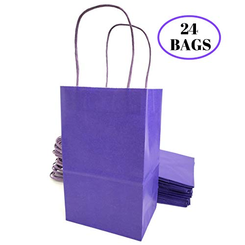 Kelkaa Party Kraft Paper Bags - 24pcs 5.25X3.5X8.5
