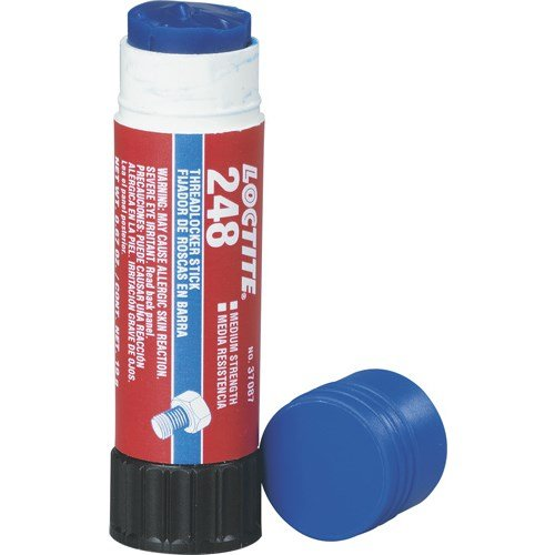 Loctite 37087 Blue 248 Medium Strength Threadlocker, 19 g (Blue Threadlocker Strength Stick Medium)