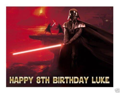 Star Wars Darth Vader edible cake image cake (Darth Vader Party Ideas)