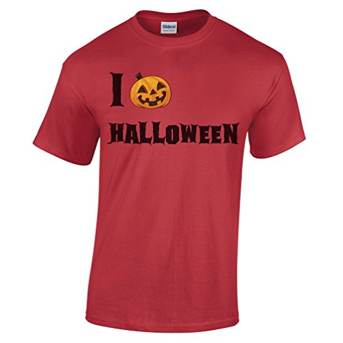 I Love Heart Halloween Funny Cool Costume Scary Spooky Haunted Monster Mens T-Shirt (Nerdy Girl Costume Ideas)