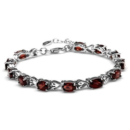 12.6ct. Natural Garnet 925 Sterling Silver Victorian Heart Style 7-8.5