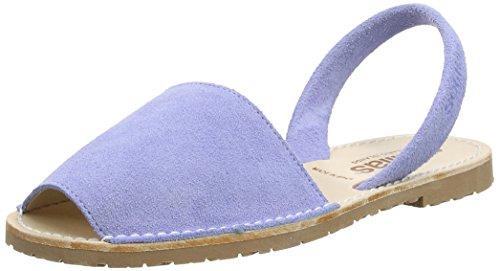 Solillas Lavenda, Sandalias con Correa de Tobillo para Mujer Azul (Blue)