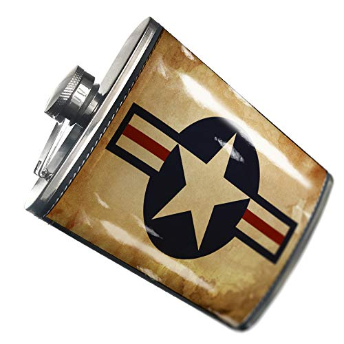 NEONBLOND Flask United States Air Force Hip Flask PU Leather Stainless Steel Wrapped