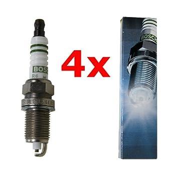Bosch 4X Super FQR8LEU2 + C - Bujía para Motor de Barco: Amazon.es: Coche y moto