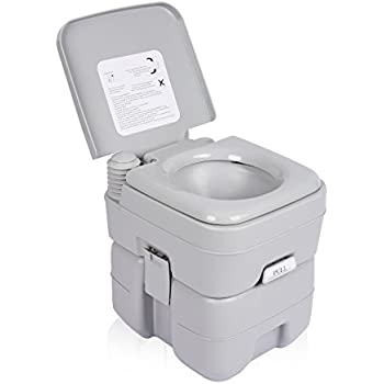 Excelvan 5 Gallon 20L Flush Porta Potti Outdoor Indoor Travel Camping Portable  Toilet For RV Car
