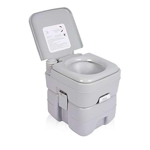 Excelvan 5 Gallon Flush Travel Camping Portable Toilet