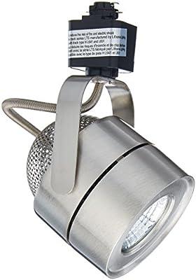 Lithonia Lighting LTIHMSBK BN M4 Mesh Back 1 Head Brushed Nickel Integrated LED Track, 8.2 W, White