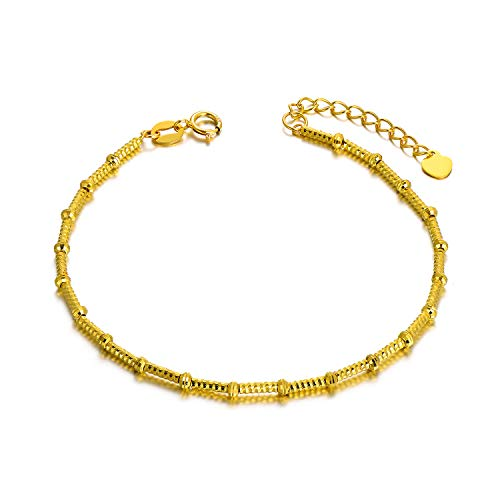 18K Gold Rope Bracelets...