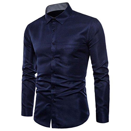 Dress Slim Color Fit Shirts Color Promotion Fit Sleeve Navy Casual Top Suits Formal T Blouse Long Slim Oxford Shirt Fashion Solid Tee Mens Pure Business Casual Blouse gvC7U7