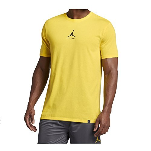Nike Mens Jordan Dry 23/7 Jumpman Basketball T-Shirt Opti Yellow/Black 840394-741 Size Small