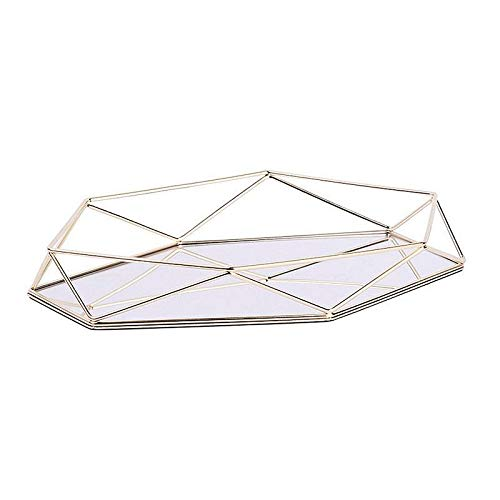 (Storage Baskets - Light Luxury Wrought Iron Storage Tray Three Dimensional Hexagonal Gold Desktop Cosmetic Jewelry Box - Beyond Drawers Handle Table Handles Small Square Print Bath Kids Unic)