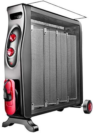 YD 電気ヒーターシリコン結晶対流ヒーター2電源過熱保護垂直2100Wブラック /&