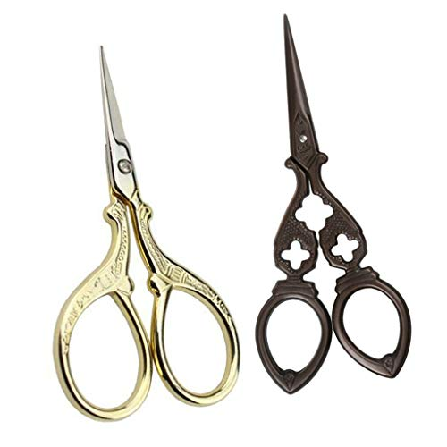 2pcs Retro Embroidery Sewing Tailoring Scissors Dressmaking Cutting Shears