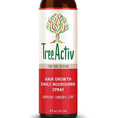 (TreeActiv Hair Growth Daily Nourishing Spray | Natural Leave in Conditioner | Anti Frizz | Reduce Curly Frizzy Hair| Argan Oil | Biotin | Keratin | Silk Aminos | Tea Tree (Grapefruit Lemongrass))