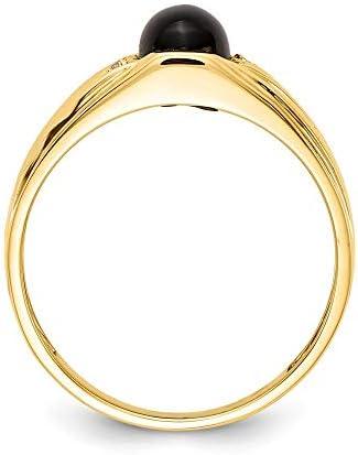 Men's 14k Yellow Gold Diamond Ring, Size 11