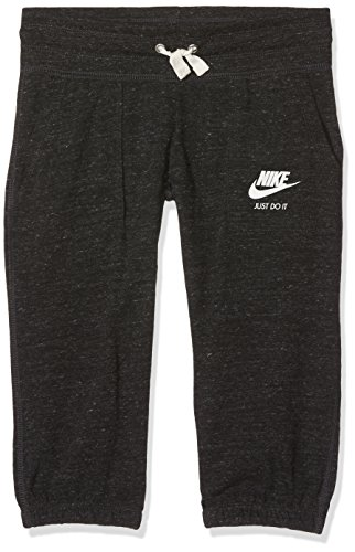 Nike Big Girls Sportswear Gym Vintage Knit Capri Sweatpants - Heathered Black (Medium)