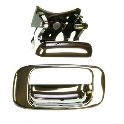 Fits 99 - 06 Chevrolet Silverado GMC Sierra Tailgate Handle and Bezel Set CHROME 00 01 02 03 04 05 ()