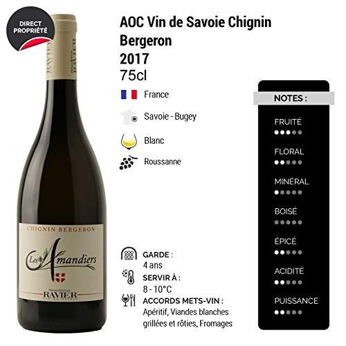 Vin-de-Savoie-Chignin-Bergeron-Les-Amandiers-Blanc-2017-Philippe-et-Sylvain-Ravier-Vin-AOC-Blanc-de-Savoie-Bugey-Cpage-Roussanne-Lot-de-12x75cl