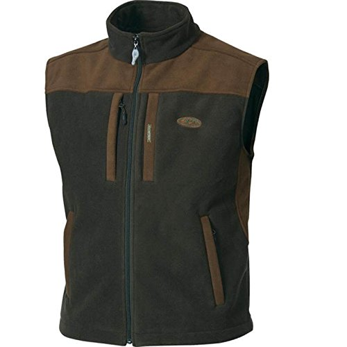 Drake Fleece Vest - Drake Waterfowl Men's MST Windproof Two Tone Layering Vest (2X-Large, Olive/Brown)
