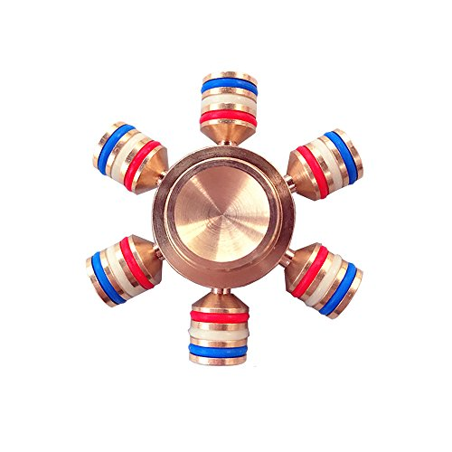 ICE FROG Metal Spinner Fidget, Light Weight Solid Brass Metal Toy Luminous (Spin Frog)