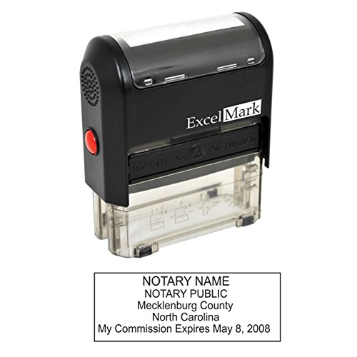 ExcelMark Self Inking Notary Stamp - North Carolina