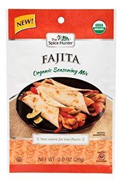 - Spice Hunter Organic Fajita Seasoning Mix .90Oz (Pack of 12) - Pack Of 12