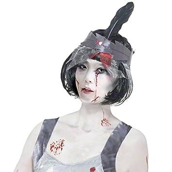 Peluca bob morena de Charleston Zombi Accesorio Halloween: Amazon.es: Juguetes y juegos