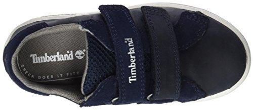 Timberland CA1IXA, Zapatillas con Velcro Bebés Azul (Black Iris Saddleback Full Grain)