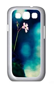 Flowers Rocks Fuzzy Green Custom For Case Samsung Galaxy S5 Cover/For Case Samsung Galaxy S5 Cover Polycarbonate White