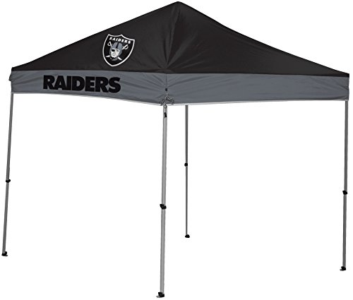 Rawlings NFL Instant Pop-Up Canopy Tent with Carrying Case, (Raiders Canopy)