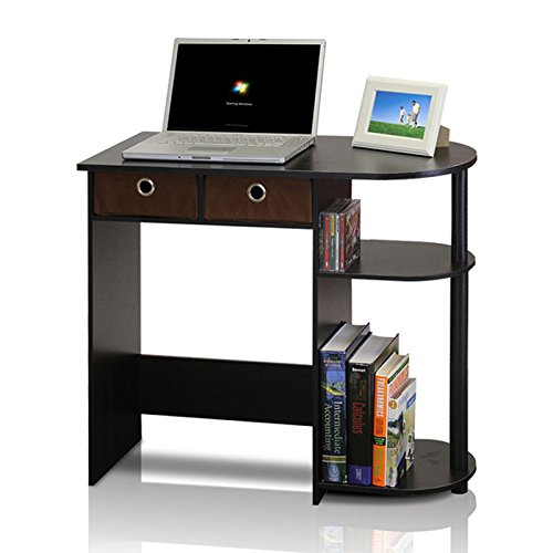 NEW computrer desks Small Computer Desk Writing Laptop Table Drawers Espresso Black Home Workstation Best Selling