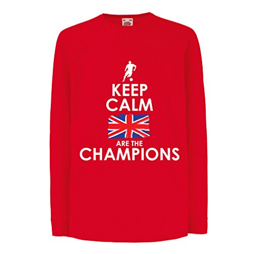 fan products of T-Shirt For Kids North Irish Are The Champions ! (7-8 Years Red Multi Color)
